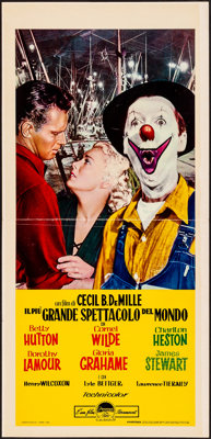 The Greatest Show on Earth & Other Lot (Paramount, R-1962) Folded, Overall Grade: Fine/Very Fine. Italian Locand...