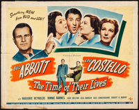 """The Time of Their Lives (Universal, 1946) Folded, Fine-. Half Sheet (22"""" X 28""""). Comedy"""