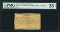 Colonial Notes:New York, New York August 2, 1775 (Water Works) 4s PMG Very Fine 25 Net.. ...