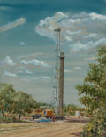 Fine Art - Work on Paper, Warner Hoople (American, 1904-1989). The Rig, 1956.Watercolor on paper. 31-1/2 x 24-1/2 inches (80.0 x 62.2 cm)(sight)...