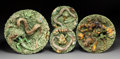 Decorative Arts, Continental:Other, A Group of Four Jose Alves Cunha Palissy Ware Plates, Caldas,Portugal, late 19th century . Marks: JOSE A. CUNHA, PORTUGAL...(Total: 4 Items)