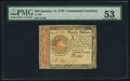 Colonial Notes:Continental Congress Issues, Continental Currency January 14, 1779 $20 PMG About Uncirculated 53.. ...