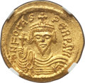 Ancients:Byzantine, Ancients: Phocas (AD 602-610). AV solidus (22mm, 4.44 gm, 7h).NGC  MS 5/5 - 4/5....