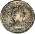 Early Half Dimes: , 1797 H10C 16 Stars AU58 ANACS. V-4, LM-2, R.4. On this variety, thefirst 7 in the date is small, and the second is large, ...