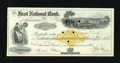 Obsoletes By State:New Hampshire, Manchester, NH- First National Bank Check Dec. 12, 1899. This Extremely Fine check with revenue imprint has been punch c...