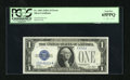 Error Notes:Obstruction Errors, Fr. 1601 $1 1928A Silver Certificate. PCGS Gem New 65PPQ.. This isa neat obstruction error that affects an early Blue Seal...