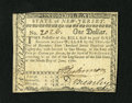 Colonial Notes:New Jersey, New Jersey June 9, 1780 $1 Extremely Fine-About New. A couple of center folds are found on this scarce handsome note with ni...
