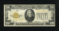 Small Size:Gold Certificates, Fr. 2402 $20 1928 Gold Certificate. Fine.. The paper is still whole and attractive....