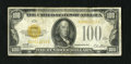 Small Size:Gold Certificates, Fr. 2405 $100 1928 Gold Certificate. Fine.. The color still remains bright on this wonderful high denomination Gold Note....
