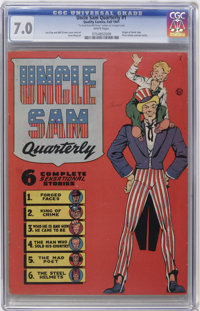 Uncle Sam Quarterly #1 (Quality, 1941) CGC FN/VF 7.0 White pages