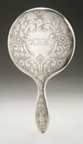 Silver Holloware, American:Mirrors and Vanity-related , An American Silver Hand Mirror. International Silver Co., Meriden,CT, Early Twentieth Century. Old English-style mono...