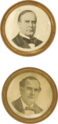 Political:Small Miscellaneous (pre-1896), McKinley & Bryan: A Rare Matched Pair of Horse-Bridle Rosettes. One affixed these rosettes to one's horse, either to partici... (Total: 2 )