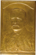 "Political:3D & Other Display (1896-present), Theodore Roosevelt Bronze Plaque signed by American sculptor Allen G. Newman (1875-1940), 6"" x 9.5"", cast by John Polachek, ..."