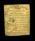 Colonial Notes:Massachusetts, Massachusetts 1779 5s/4d Very Fine. An expert repair at centersolidified the center fold....