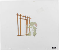 """""""The New Adventures of Winnie the Pooh"""" - Rabbit Production Cel and Clean-Up Drawing Original Art, Group of 3..."""