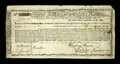 Colonial Notes:Massachusetts, Massachusetts Commodity Bond January 1, 1780 Very Fine, repairs....