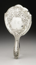 Silver Holloware, American:Mirrors and Vanity-related , An American Silver Hand Mirror. Schmitz, Moore & Co., Newark,NJ, Early Twentieth Century. Old English-style monogram ...