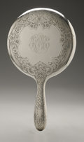 Silver Holloware, American:Mirrors and Vanity-related , An American Silver Hand Mirror. Gorham, Providence, RI, EarlyTwentieth Century. Monogram to the reverse HBH, hall...