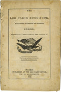 """Political:Small Paper (pre-1896), The Log Cabin Song-Book, 68 pp., 5"""" x 8"""", (New York: LogCabin Office, 1840), paper wraps. Song titles include: """"Here's ..."""