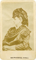Photography:CDVs, CDV of Victoria C. Woodhull, First Female Presidential Candidate. Woodhull, looking every inch the proper Victorian lady, is...