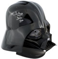 Memorabilia:Science Fiction, Star Wars EP3 Darth Vader Collectors Helmet #4199 Signed by Dave Prowse, Limited, Numbered Edition #1668/2400 (Rubie's...