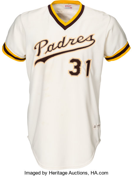 efb92b74 ... Baseball Collectibles:Uniforms, 1977 Dave Winfield Game Worn San Diego  Padres Jersey, MEARS ...