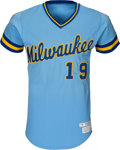 Baseball Collectibles:Uniforms, 1979 Robin Yount Game Worn Milwaukee Brewers Jersey, MEARS A10. ...