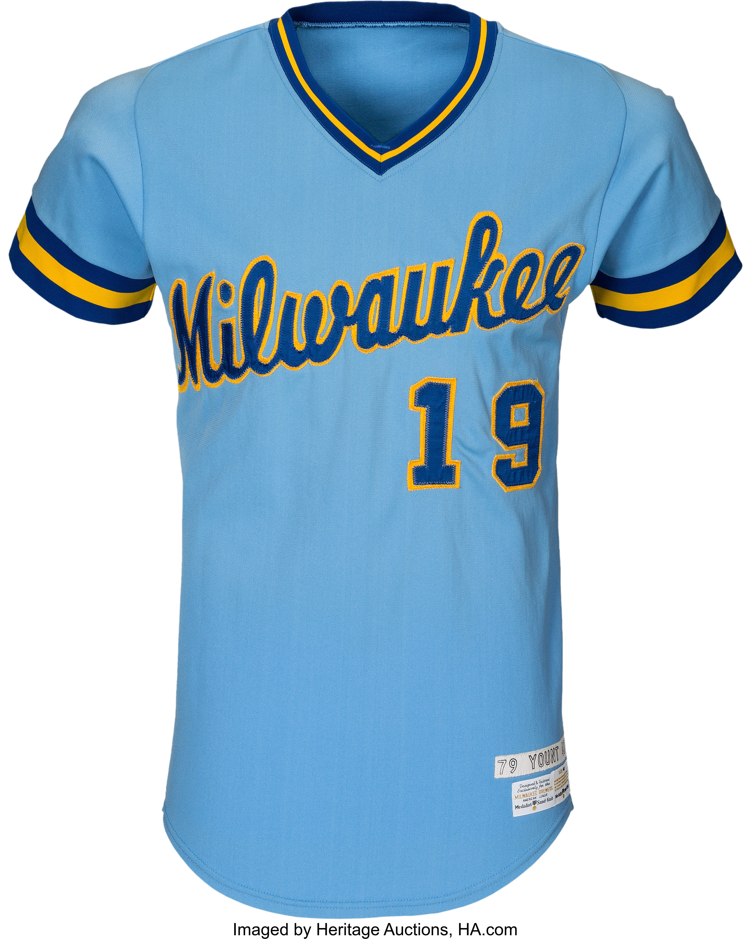 new styles b3aee be746 1979 Robin Yount Game Worn Milwaukee Brewers Jersey, MEARS ...