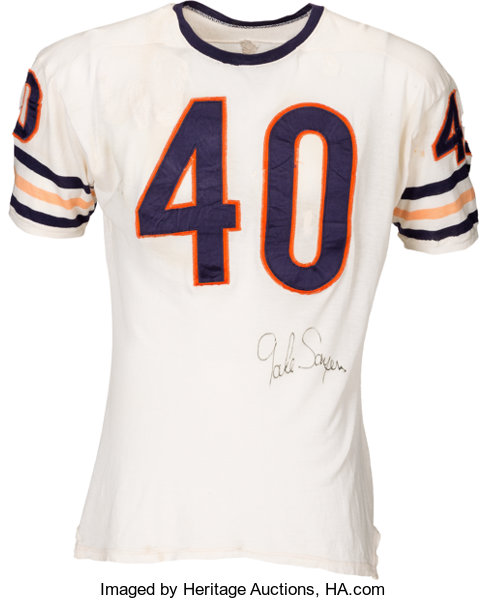 Circa 1968 Gale Sayers Game Worn   Signed Chicago Bears Jersey ... 6f6724fa5