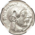 Ancients:Greek, Ancients: ATTICA. Athens. Ca. 510/500-480 BC. AR tetradrachm (21mm, 17.19 gm, 4h). NGC XF 5/5 - 3/5, test punches....