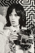 Photographs:Gelatin Silver, Baron Wolman (American, b. 1937). Mick Jagger, London, 1968. Gelatin silver, printed later. 17-3/4 x 11-3/4 inches (45.1...
