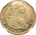 Colombia, Colombia: Charles IV gold 8 Escudos 1808 P-JF MS61 NGC,...