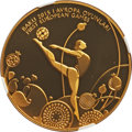 "Azerbaijan: Republic gold Proof ""Gymnastics"" 100 Manat 2015 PR70 Ultra Cameo NGC"