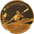 "Azerbaijan: Republic gold Proof ""Rowing"" 100 Manat 2015 PR70 Ultra Cameo NGC"