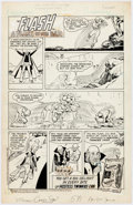 """Original Comic Art:Complete Story, Curt Swan and Tex Blaisdell Hostess Twinkies Ad Complete1-Page Story """"A Flash in the Dam"""" Original Art (DC, 1980)..."""
