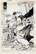 Original Comic Art:Covers, Tom Grindberg Checkmate #27 Cover Original Art (DC,1990)....