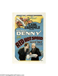 Movie Posters:Comedy, Red Hot Speed (Universal, 1929)...