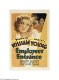 Movie Posters:Drama, Employee's Entrance (Warner Brothers-First National, 1933)...