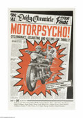 Movie Posters:Action, Motor Psycho (Eve Productions, 1965)...