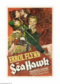 "Movie Posters:Swashbuckler, Sea Hawk, The (Warner Brothers, 1940). One Sheet (27"" X 41"").Considered by many to be one of the greatest swashbucklers of ..."