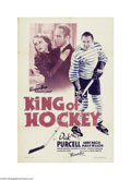 Movie Posters:Sports, King of Hockey (Warner Brothers-First National, 1936)...