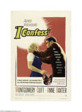 Movie Posters:Hitchcock, I Confess (Warner Brothers, 1953)...