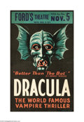 Movie Posters:Horror, Dracula (Stage Play, 1928)...