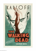 Movie Posters:Horror, The Walking Dead (Warner Brothers, R-1942)...