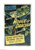 Movie Posters:Horror, House of Dracula (Universal, 1945)....