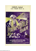 Movie Posters:Horror, The Invisible Man (Universal, 1933)....