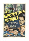 Movie Posters:Horror, The Invisible Man Returns (Universal, 1940)....