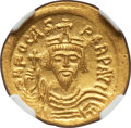 Ancients:Byzantine, Ancients: Phocas (AD 602-610). AV solidus (21mm, 4.46 gm, 7h). NGCChoice MS 4/5 - 4/5....