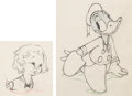 Animation Art:Limited Edition Cel, Autograph Hound Shirley Temple and Donald Duck Animation Drawings Group of 2 (Walt Disney, 1939). ... (Total: 2 Original Art)