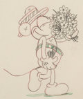 Animation Art:Production Drawing, Puppy Love Mickey Mouse Animation Drawing (Walt Disney,1933)....